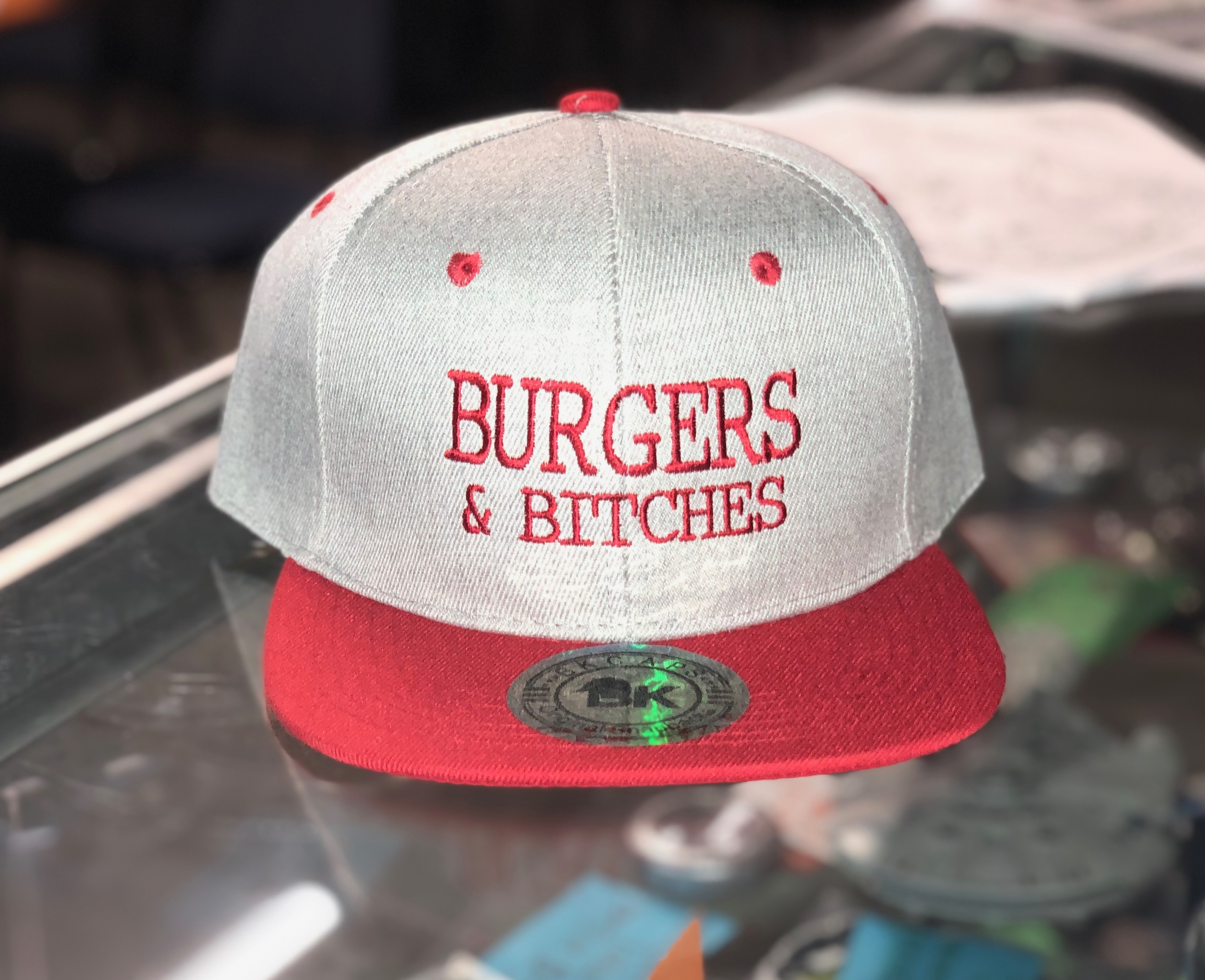 Burgers and Bitches Hat $20