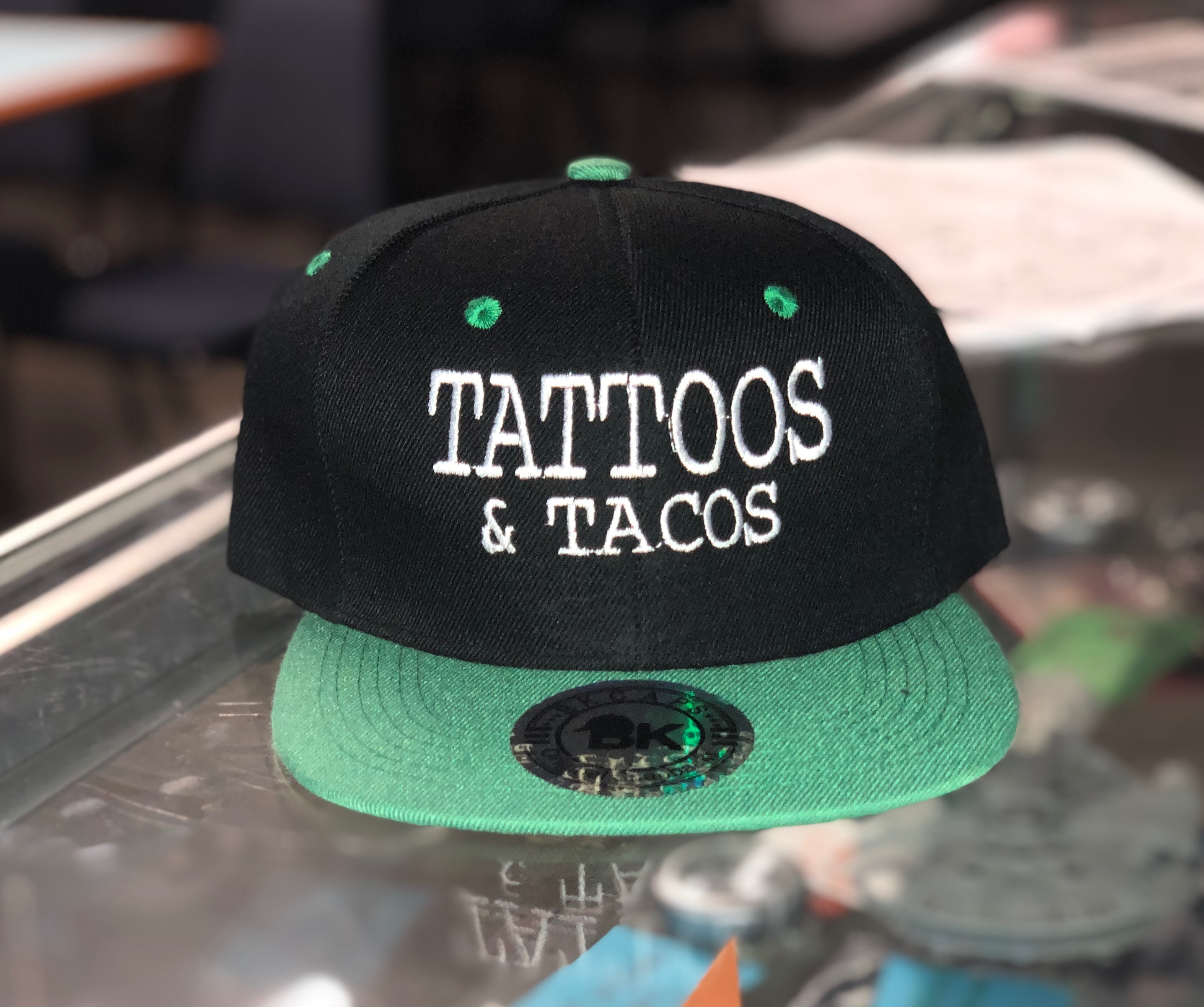 Tattoos and Tacos Hat $20
